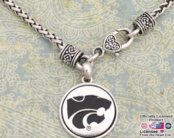 Kansas State Wildcats Medallion Clasp Necklace