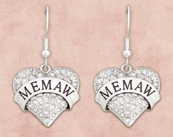 Memaw Heart Earrings - 54071
