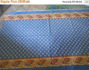 """VINTAGE SUMMER SALE Vintage Fabric Remnant by """"Sears and Roebuck"""" Great for table linens or valnaces!  Very clean/no issues- Sears hasn't ma"""