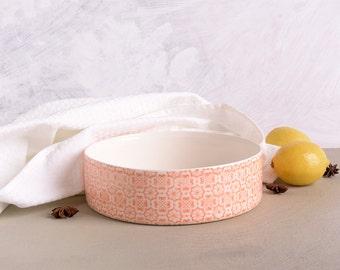 Ceramic Cake Pan Etsy