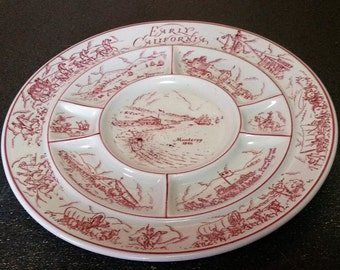 Vintage Tepco China USA Early California Condiment Divided Serving Tray - Restaurant or Diner Ware