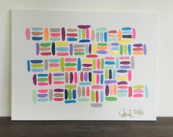 Color Story. Acrylic on canvas original artwork 24x18