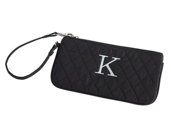 Quilted Microfiber Wristlet - (e118-1112-2) - Free Personalization