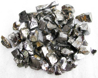 ELITE Shungite Natural raw rough 150 gr fraction 1-5, Healing Water, emf protection, root chakra, energy crystal