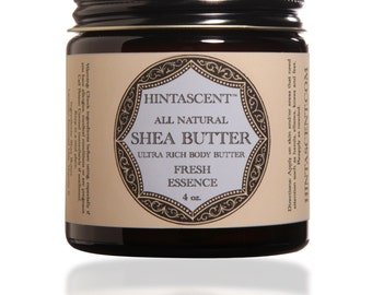 Shea Butter Ultra Rich Body Butter 1 oz or 4 oz + Young Living Essential Oils