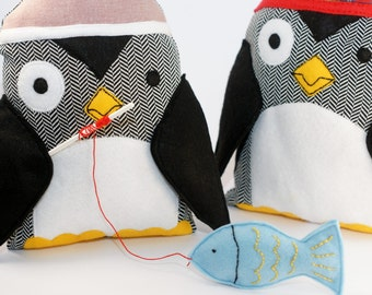 Penguin Sewing Pattern PDF Instant Download Plush Stuffed Toy Tutorial. Fabric penguin pattern.