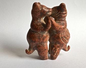 Dancing Bears Art Pottery Figuring Armando De Mexico