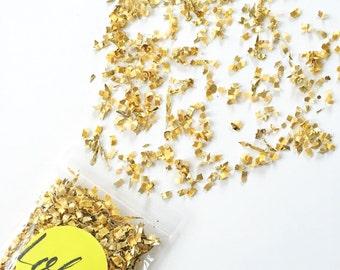 Gold confetti Wedding confetti Party decor Gold Dust | FREE SHIPPING