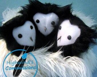 Tiny Faux fur owl Plush