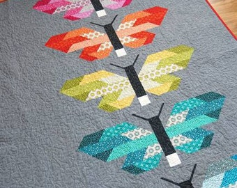 Frances Firefly Quilt pattern by Elizabeth Hartman Jelly Roll friendly Finished quilts are: Large 60in x 70in and Small 40in x 48in