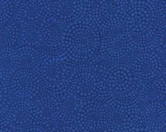 Royal Blue Pop Dots Blender Fabric by Timeless Treasures By The Half Yard 100% Cotton, Polka Dot Geometric