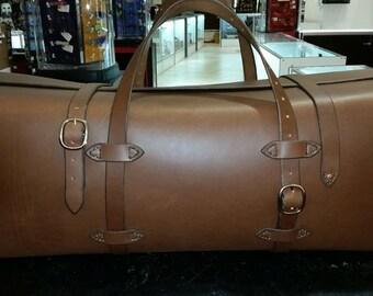 Large Handmade Rigid Leather Duffel Bag