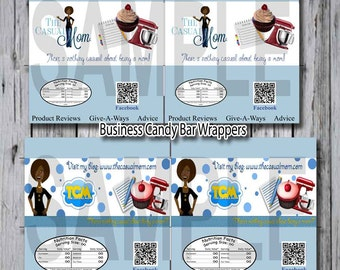 Business Card  Water Bottle Custom Designed Water Bottle labels for your business with all your information