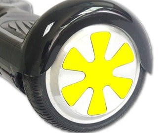 Skin Decal Wrap for Hoverboard Balance Board Scooter Wheels Solid Yellow