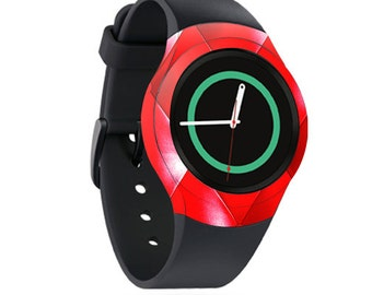 Skin Decal Wrap for Samsung Gear S2, S2 3G, Live, Neo S Smart Watch, Galaxy Gear Fit cover sticker Red Upholstery