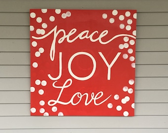 Christmas Peace Joy Love sign