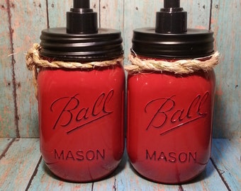 Rustic Mason Jar Soap Dispenser NEW ITEM