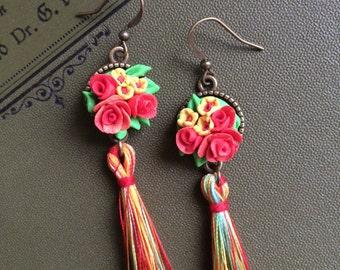 """Earrings """"Scarlet Rose"""" earrings"""