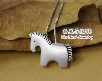 Handmade Silver Horse Pendant, Silver 990 Lovely Horse Pendant, Anniversary, Birthday, Christmas, Gift
