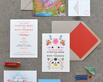 Custom Wedding Invitation, Digital+Letterpress - Your Design