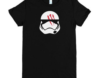 Women's Episode 7 VII Finn Stormtrooper Helmet Star Wars T-Shirt