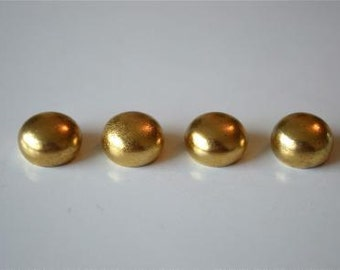 A set of 4 solid brass antique style ball finials 13mm RR4