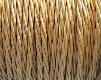 1 meter gold silk covered 3 core light flex B7