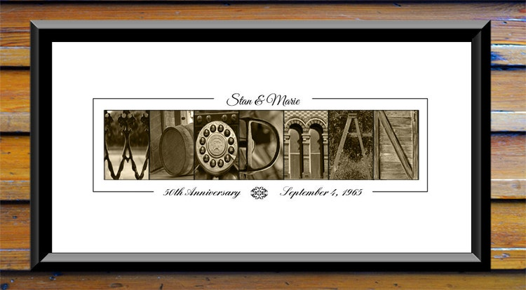 Gift For 50th Wedding Anniversary Ideas: 50th Anniversary Gift Ideas 50th Wedding By AlphaNumericArt
