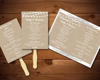 Wedding Program Template Printable DIY