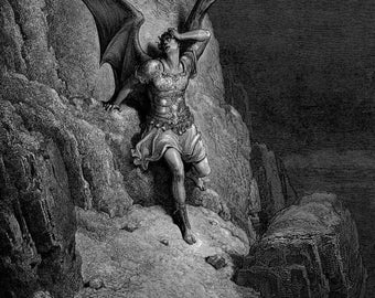 Gustave Dore: Depiction of Satan. Fine Art Print/Poster. (001837)