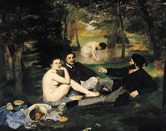 Edouard Manet: The Luncheon on the Grass. Fine Art Print/Poster (00513)