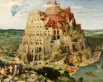 Pieter Bruegel the Elder: The Tower of Babel. Fine Art Print/Poster (00403)