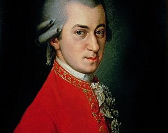 Barbara Krafft: Portrait of Wolfgang Amadeus Mozart. Fine Art Print/Poster. (003604)