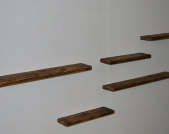 Set of 5 Floating Shelf - Wooden shelves
