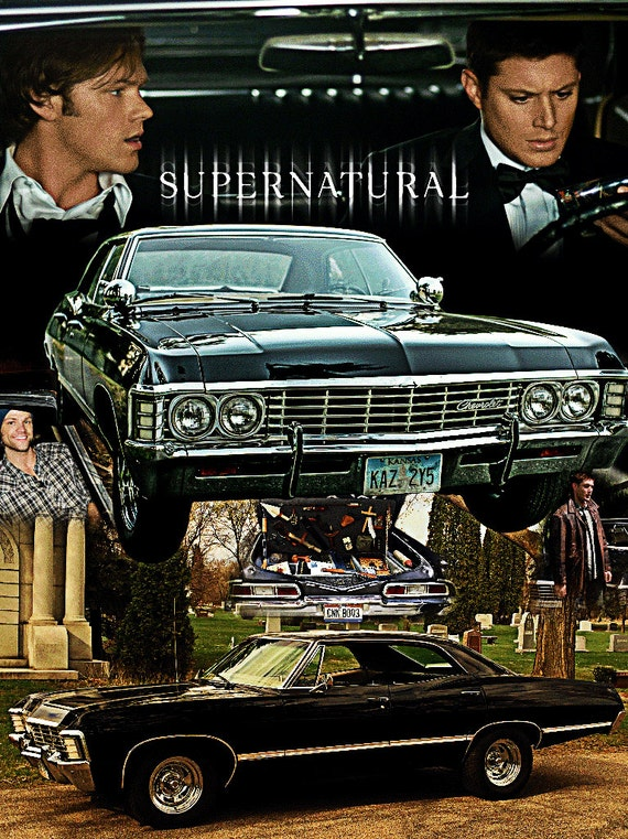 Supernatural Inspired Chevy Impala Throw Blanket