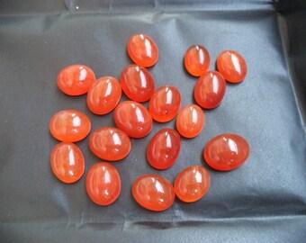 Natural Carnelian Cabochon oval finest quality 12X15-14X18, 9 pec