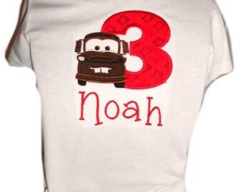 Tow Mater Birthday TShirt