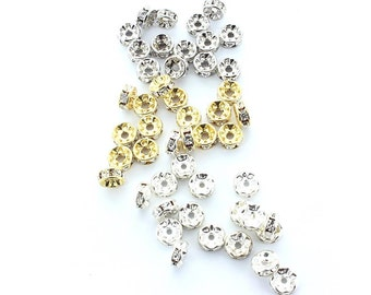 Crystal rondelles made by Preciosa.  6mm.  The price is for 10 rondelles.