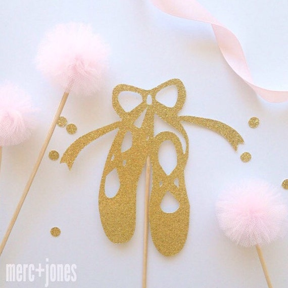 Ballerina Dancer Shoes Cake Topper