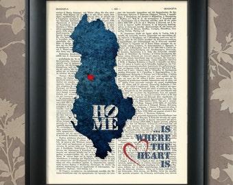 Albania Art Print, Albania Print, Albania Map Art, Albania Wall Art, Albania Pride, Albania Map Print, Albania Map, Albania Gift, Albanian