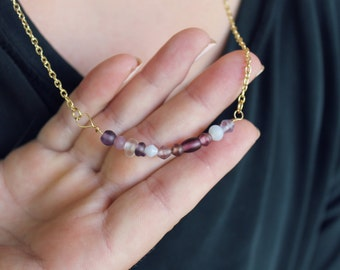 Lavender Bead Necklace