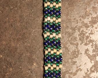 "Mermaid Peyote Stitched Bracelet ~ 9"""