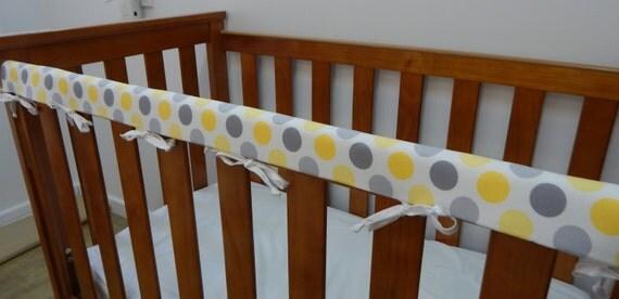 Baby Cot Crib Rail Cover Teething Pad Large Grey Gray And
