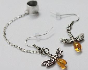 Your choice - Firefly ear cuff chain earrings