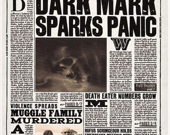 Daily Prophet First Page Dark Mark
