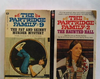 The Partridge Family Books #2 and #9 Vintage Books