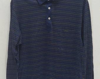 Vintage Longchamp paris polo long sleeves shirt