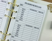 Personal Measurements printed planner insert - body measurement - diet tracking - fitness tracker - weight loss - gain loss - #236