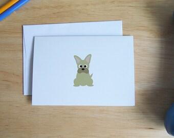 French Bull dog Personal Stationery Set, Dog Stationery, Pet Stationery, Pet Note cards, Stationery, Frenchie Stationery