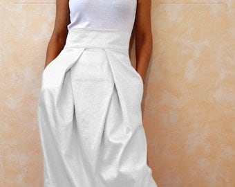 White skirt | Etsy